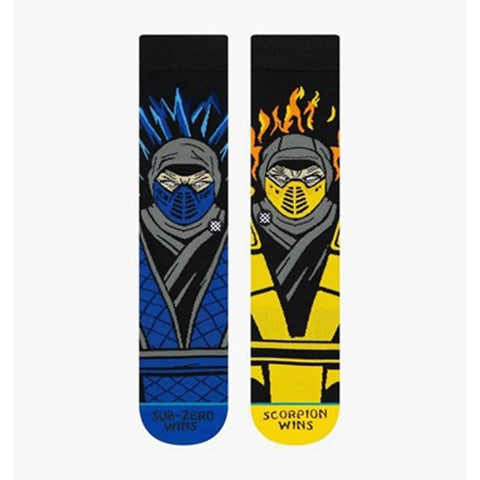 M545C19SZV.BLK, BLACK, SUB ZERO VS SCORPION, MENS CREW SOCKS, STANCE SOCKS, 2019