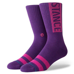M556D17OGG.PUR, PURPLE, STANCE SOCKS, OG, FALL 2019, MENS CREW SOCKS