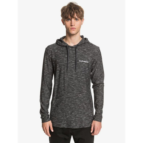 EQYKT03965-KVJ3, BLACK KENTIN, QUIKSILVER, KENTIN LONG SLEEVE HOODED TOP, MENS PULLOVER SWEATSHIRTS, SPRING 2020