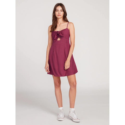 B1312009-MVR, MAUVE ROSE, VOLCOM, NO SHE DIDN'T DRESS, WOMENS DRESSES, SPRING 2020