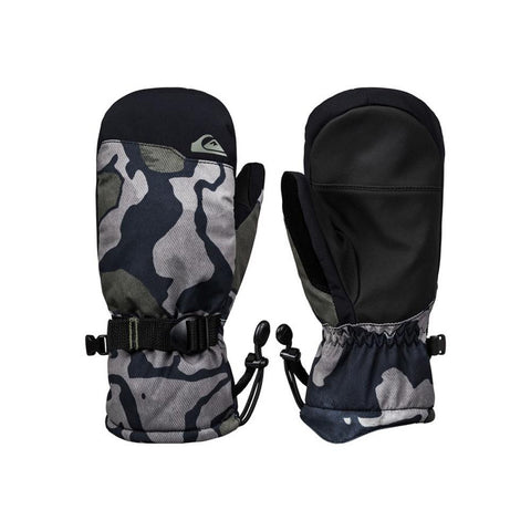 EQBHN03027-KVJ5, Black Sir Edwards, Quiksilver, Mission Youth Snowboard Mitts, Boys Mitts 8-14 Years old