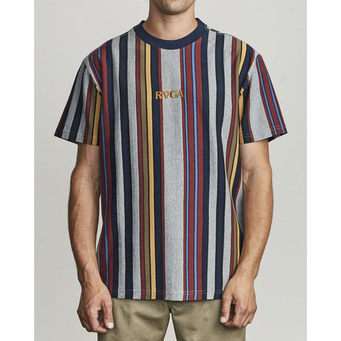 M9111RBD-MYV, RVCA, CAIRO VERTICAL STRIPE SS, MENS SHORT SLEEVE SHORTS, MANY MARINE, STRIPES, SPRING 2020
