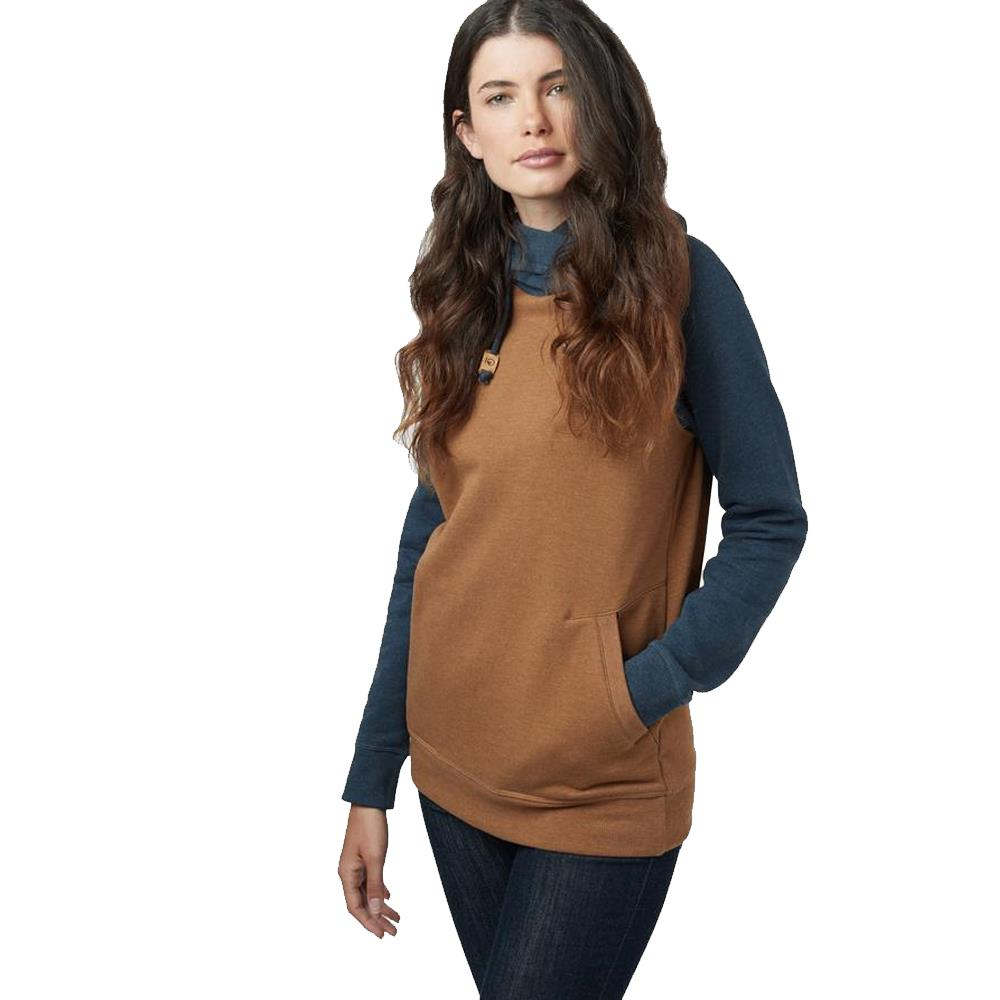 tcw1519-0461 Ten Tree Womens Burney Hoodie rubber brown heather front view