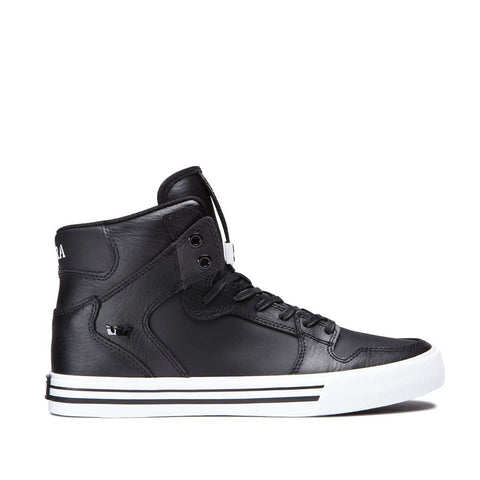 SUP-08208-002, Black, Leather, Supra, Vaider, Mens High Tops, Spring 2020