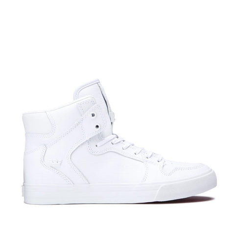 SUP-08201-149, WHITE/WHITE/RED, SUPRA, VAIDER, MENS HIGH TOP SHOES, SPRING 2020
