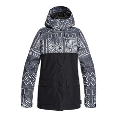 EDJTJ03044-KVJ6, Crusier Jacket, DC, Black, Black Print, Womens outerwear, Womens Snowboard Jacket, Winter 2020