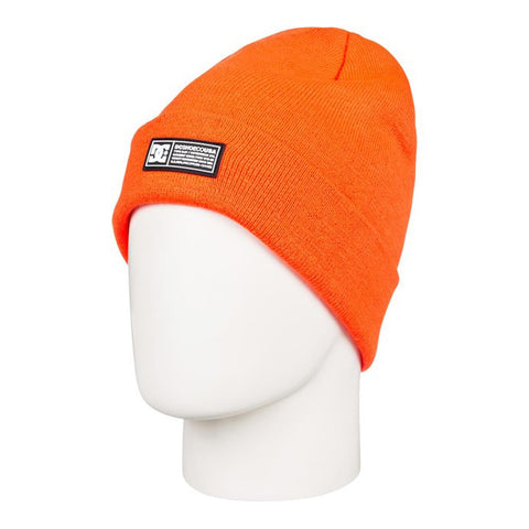 edyha03095-nkr0 DC Label Cuff Beanie shocking orange overall view