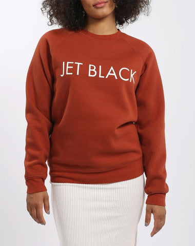 Brunette Jet Black Crew Neck