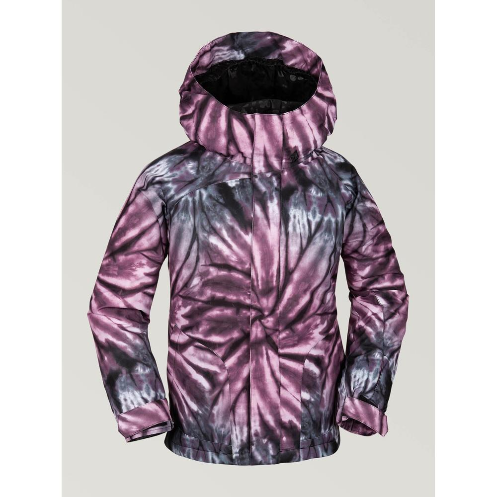 i0452006-pur Volcom Westerlies Youth Insulated Jacket purple front view