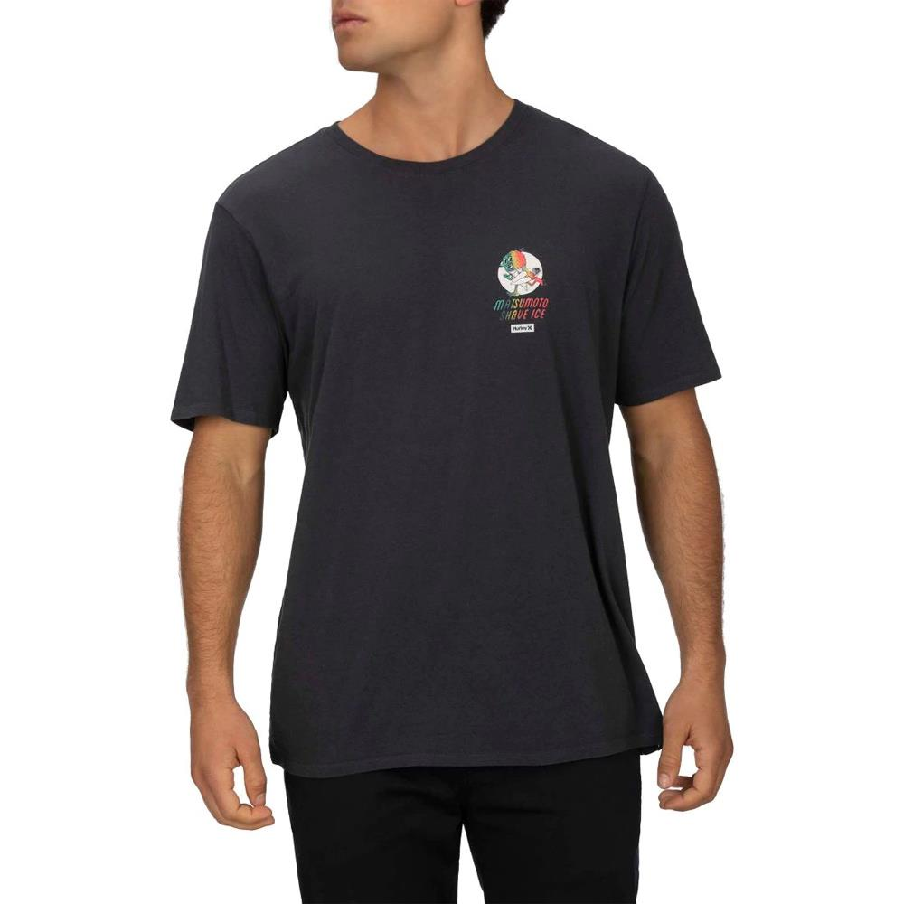 CQ0982-079, dark smoke grey, black, Hurley, Matsumoto Shave Ice Short SLeeve Tee, mens t-shirts, Spring 2020, front view