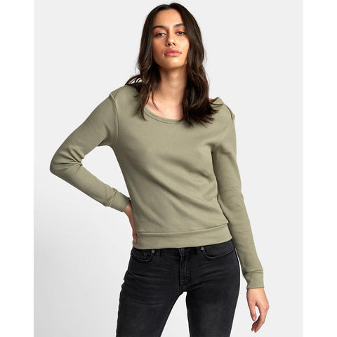 W904WRSE-SGE, Sage, Sedona Long Sleeve Shirt, RVCA, Womens Long sleeve shirts, Holiday 2019