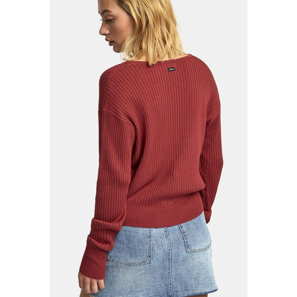WV07WRPO-DYR, Dusty Red, RVCA, Pointed Sweater, Holiday 2019