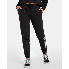 W324WRLA-BLK, BLACK, LATERAL RVCA SWEATPANTS, RVCA, WOMENS SWEATPANTS, HOLIDAY 2019
