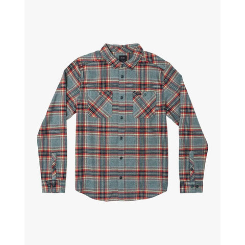 M556WRMZ-ALP, ALPINE, RVCA, MAZZY FLANNEL LS, MENS LONG SLEEVE WOVEN FLANNEL SHIRTS, HOLIDAY 2019