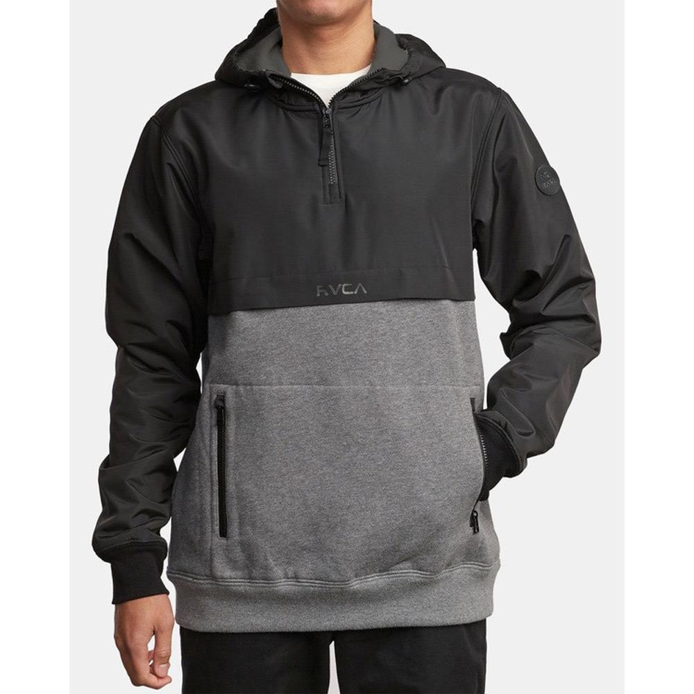 M689WRCM-AHR, ATHLETIC HEATHER, RVCA, TWO TONED, MENS PULLOVER HOODIE, MENS JACKET