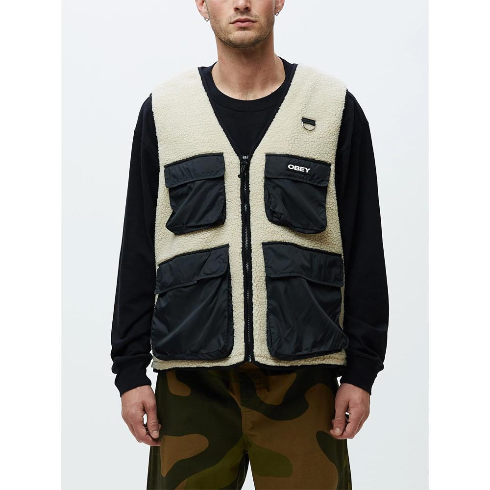 121810010.NML, Natural Multi, Obey, Mountaineer Vest, Mens Winter Vests, Mens Outerwear, Holiday 2019