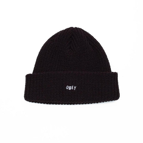 100030145.BLK, Black, Obey, Jumbled Beanie, Holiday 2019, Toque, Winter headwear
