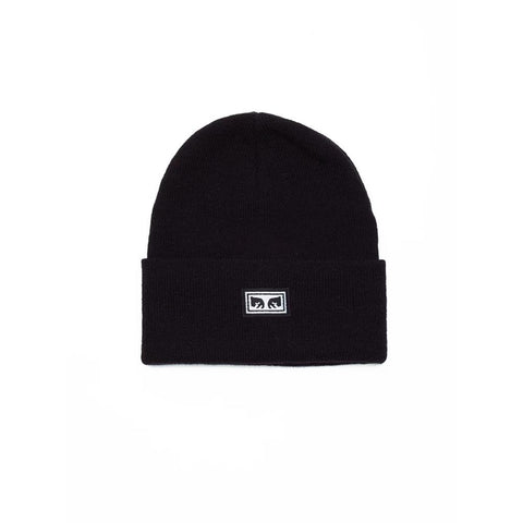 100030132.BLK, ICON EYES BEANIE BLACK, OBEY, MENS TOQUES,