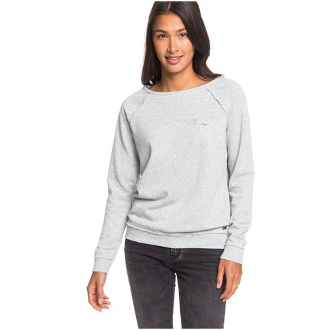 ERJFT04120-SGRH, HEATHER GREY, PACIFIC HIGHWAY C SWEATSHIRT, WOMENS CREW SWEATSHIRT, HOLIDAY 2019