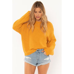 a808mama-gld Amuse Society Amalia Sweater gold front