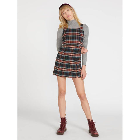 b1341909-pld Volcom Frochickie Dress plaid front