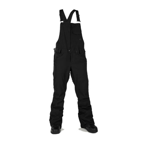 h1352003-blk Volcom Swift Bib Overall black front view