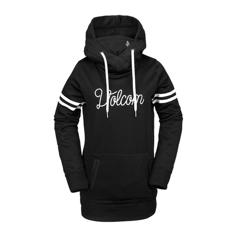 h2452002-blk Volcom Spring Shred Hoody black front view