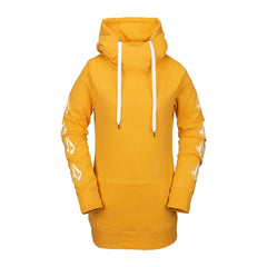 h2452006-yel Volcom Costus Pullover Fleece front view yellow