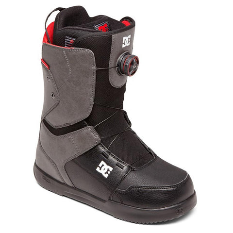 adyo100037-gyb DC Scout Mens Boa Snowboard Boots grey/black overall view