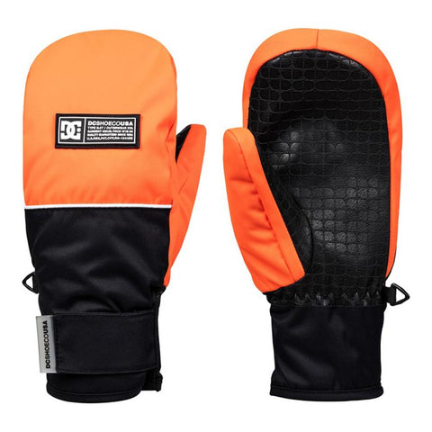 edbhn03010-nkr0 DC Franchise Youth Mitts shocking orange front n back view