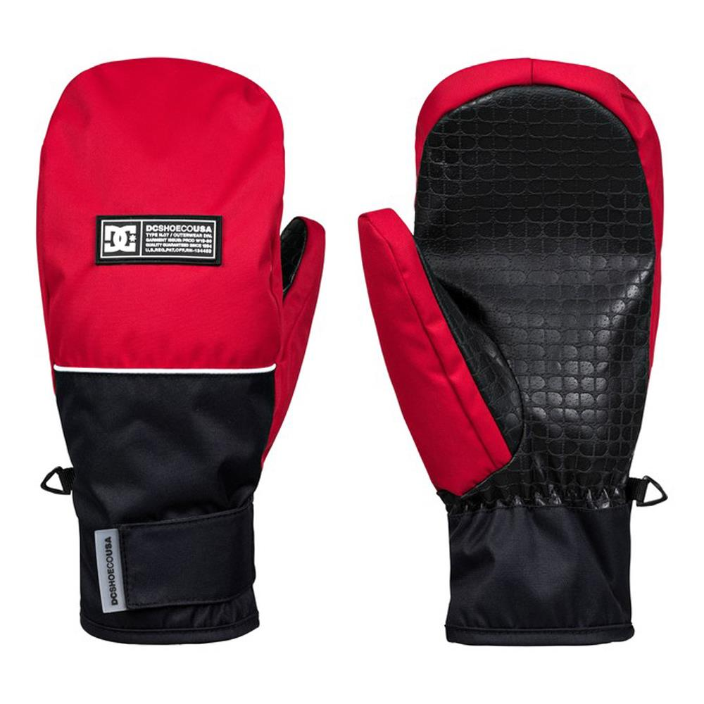 edyhn03046-rqr0 DC Franchise Mens Mitts racing red front n back view