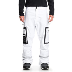 edytp03043-wbb0 DC Revival Snow Pants white front view