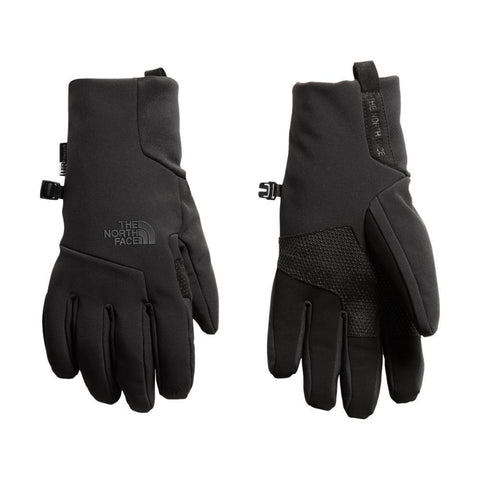 nf0a3lvujk3 The North Face Mens Apex Etip Gloves black front n back view
