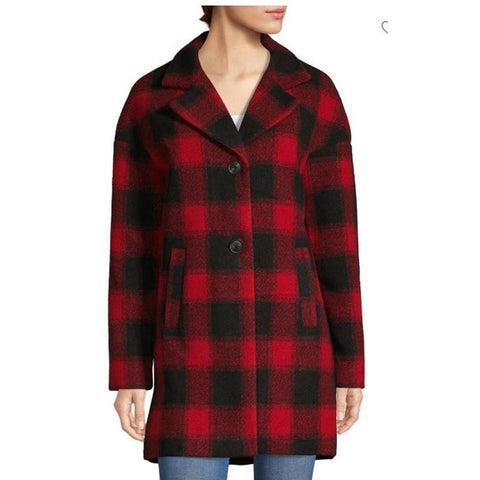 22lmh838-rebk Guess Plaid Jacket red/black front