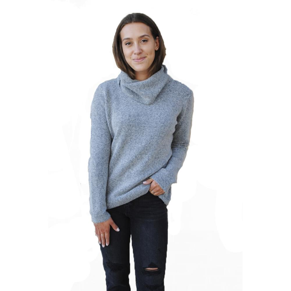 w93r29r2h70-clgm Guess Beckett Turtleneck Sweater cloudy grey front