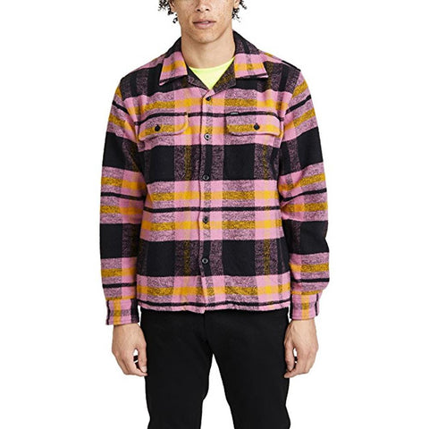 181200268.BTB, OBEY, FITZGERALD WOVEN, BURNT BRICK MULTI, MENS WOVEN SHIRTS, MENS BUTTON UP SHIRTS, FALL 2019