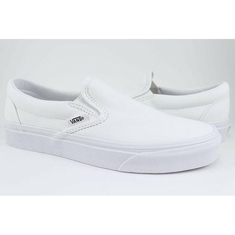 VN000EYE-WOO, WHITE, TRUE WHITE, VANS, CLASSIC SLIP ON SHOES, WOMENS SHOES, SPRING 2020