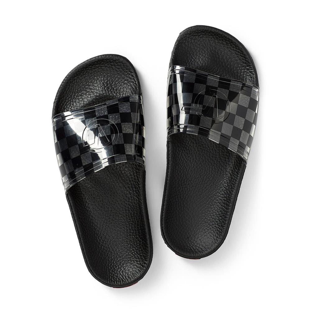 VN0A4BIF-5YC, BLK/CHECKERBOARD, VANS, ZOE SLIDE-ON SANDAL, WOMENS SLIDES, SPRING 2020