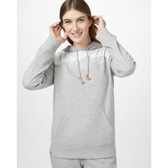 tcw1759-0346 Ten Tree Mountain Juniper Hood womens hoodie hi rise grey heather front view
