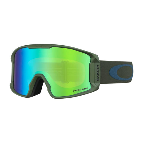 oo7093-22 Oakley Line Miner XM Snow Goggle dark brush poseidon/snow jade iridium side
