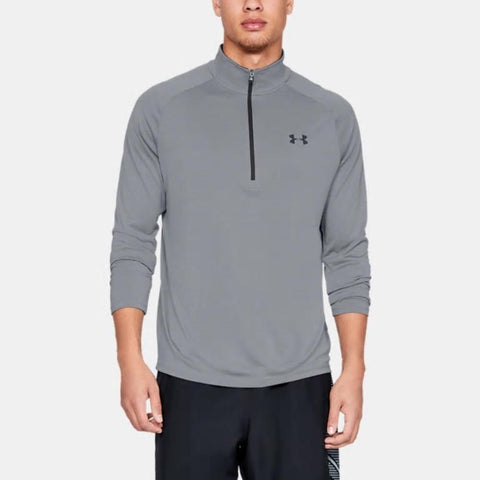1328495-035, Steel, Grey, Under Armour UA Tech 2.0 1/2 Zip, Sweater, Pullover, Mens Long Sleeve, Fall 2019