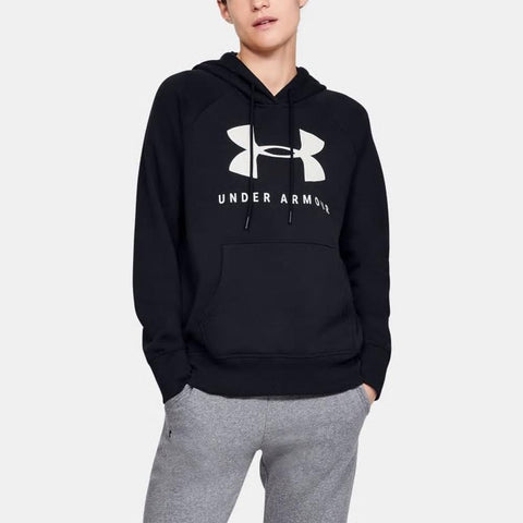 1348550-001, Black, Under Armour, Rival Fleeve Sportstyle Graphic Hoodie, Womens Pullover Hoodies, Fall 2019