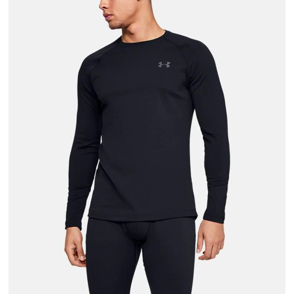 1343244-001, Black, Under Armour, Packaged Base 2.0 Crew, Mens Long sleeve, Athletic wear, Fall 2019