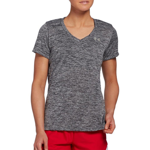 1258568-001, Black, Under Armour, Tech SSV Twist, Womens T-shirts, Fall 2019, front view