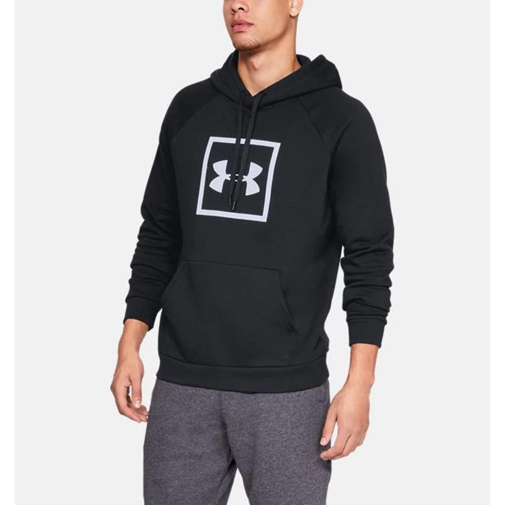 1329745-001, Black, Rival Fleece Box Hoodie, Mens Pullover Hoodies, Fall 2019