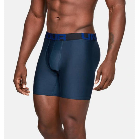 "1327415-409, Tech 6"" Boxerjock 2 pack underwear, Under Armour, Mens Under wear, Navy, Blue, Fall 2019"