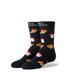 K515D19MER.BLK, KIDS MERRY CRUSTMAS SOCKS, STANCE, HOLIDAY 2019, CREW HEIGHT,