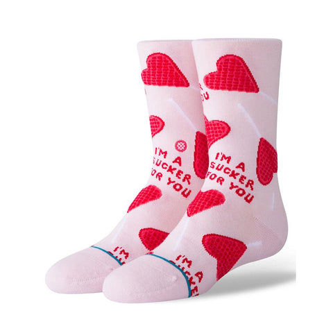 K515D19SUC.LIL, STANCE, SUCKER 4 YOU, KIDS SOCKS, KIDS CREW SOCKS, PINK, RED