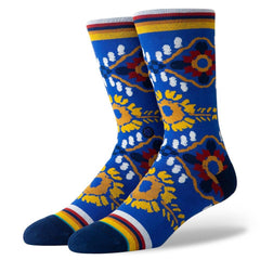 M545D19BLA.ROY, ROYAL, STANCE, BLANFORD MENS CREW SOCKS, BLUE,