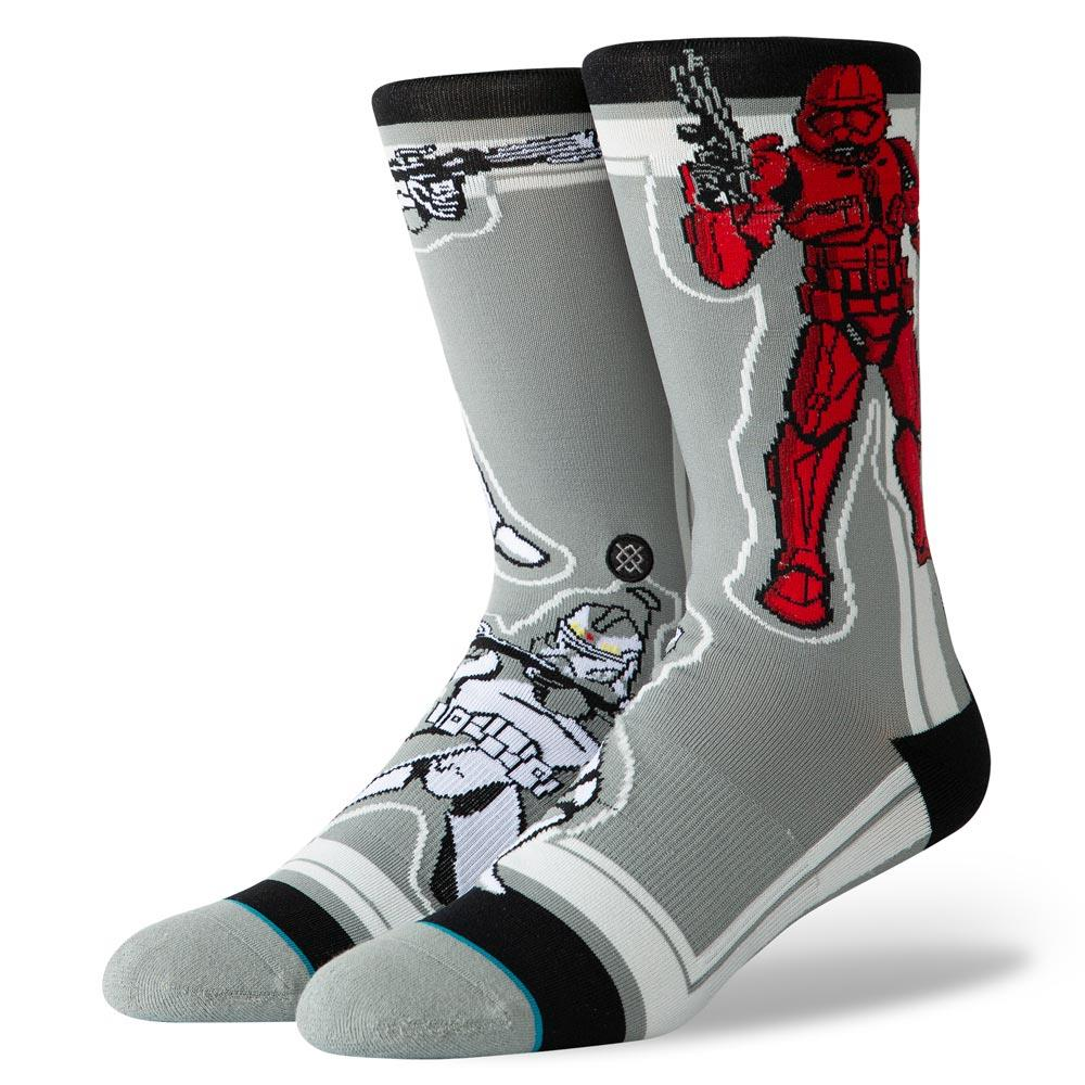 U545D19SST.GRY, Grey, Stance, Storm Trooper, Mens Crew Socks